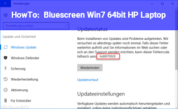 HowTo Bluescreen Win7 64bit HP Laptop