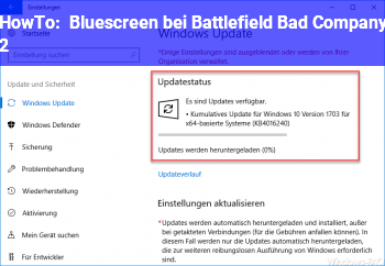 HowTo Bluescreen bei Battlefield Bad Company 2