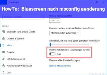 HowTo Bluescreen nach msconfig änderung