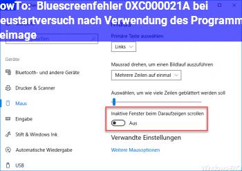 HowTo Bluescreenfehler 0XC000021A bei Neustartversuch nach Verwendung des Programms Reimage
