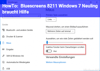HowTo Bluescreens – Windows 7 Neuling braucht Hilfe
