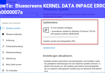 HowTo Bluescreens KERNEL_DATA_INPAGE_ERROR 0x0000007a