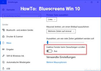 HowTo Bluescreens Win 10