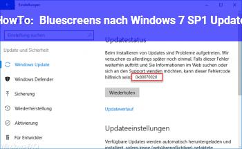 HowTo Bluescreens nach Windows 7 SP1 Update
