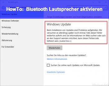 HowTo Bluetooth Lautsprecher aktivieren