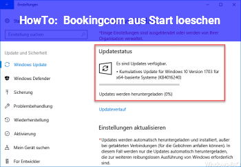 HowTo Booking.com aus Start löschen