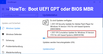 HowTo Boot UEFI( GPT ) oder BIOS ( MBR )