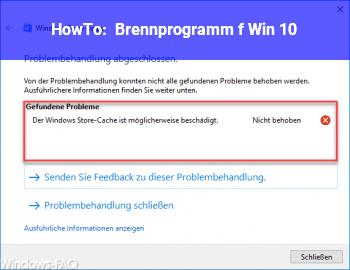 HowTo Brennprogramm f. Win 10