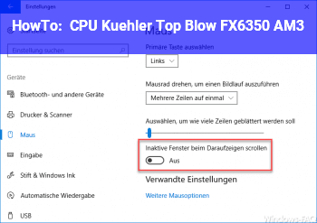 HowTo CPU Kühler Top Blow FX6350 AM3+