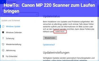 HowTo Canon MP 220 Scanner zum Laufen bringen