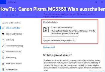 HowTo Canon Pixma MG5350 Wlan ausschalten