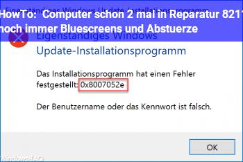 HowTo Computer schon 2 mal in Reparatur – noch immer Bluescreens und Abstürze