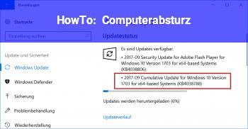 HowTo Computerabsturz