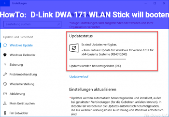 HowTo D-Link DWA 171 WLAN Stick will booten