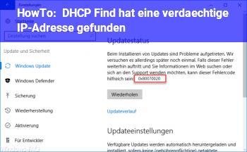 HowTo DHCP Find hat eine verdächtige IP-Adresse gefunden