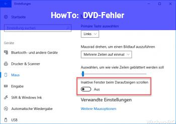 HowTo DVD-Fehler