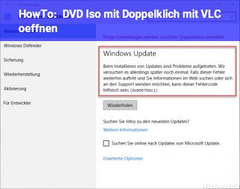 HowTo DVD Iso mit Doppelklich mit VLC öffnen.