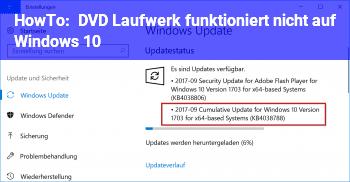 HowTo DVD Laufwerk funktioniert nicht auf Windows 10