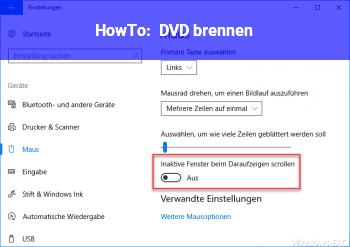 HowTo DVD brennen