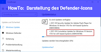 HowTo Darstellung des Defender-Icons?