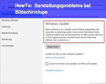 HowTo Darstellungsprobleme bei Bildschirmlupe