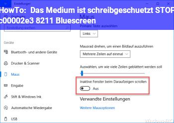 """HowTo """"Das Medium ist schreibgeschützt"""" STOP c00002e3 – Bluescreen"""