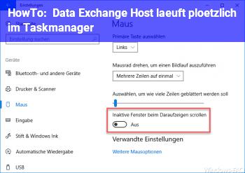 """HowTo """"Data Exchange Host"""" läuft plötzlich im Taskmanager"""
