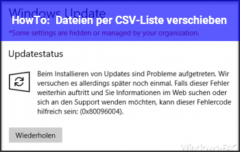 HowTo Dateien per CSV-Liste verschieben