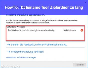 HowTo Dateiname für Zielordner zu lang ?