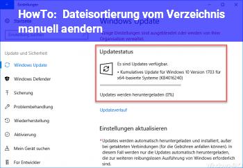 HowTo Dateisortierung vom Verzeichnis manuell ändern