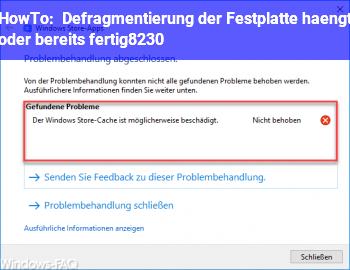 HowTo Defragmentierung der Festplatte hängt?? (oder bereits fertig…)