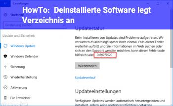 HowTo Deinstallierte Software legt Verzeichnis an