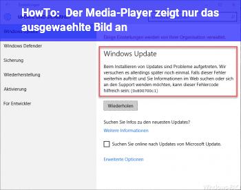 HowTo Der Media-Player zeigt nur das ausgewählte Bild an.