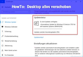 HowTo Desktop alles verschoben