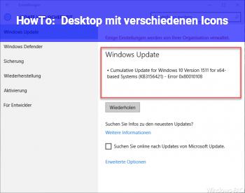 HowTo Desktop mit verschiedenen Icons