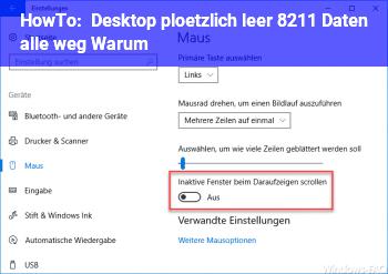 HowTo Desktop plötzlich leer – Daten alle weg / Warum ?
