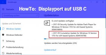 HowTo Displayport auf USB C
