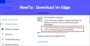 HowTo Download im Edge
