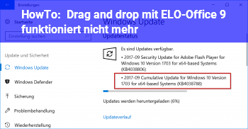 HowTo Drag and drop mit ELO-Office 9 funktioniert nicht mehr