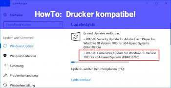 HowTo Drucker kompatibel