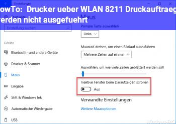 HowTo Drucker über WLAN – Druckaufträge werden nicht ausgeführt