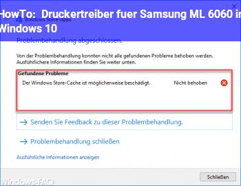 HowTo Druckertreiber für Samsung ML 6060 in Windows 10