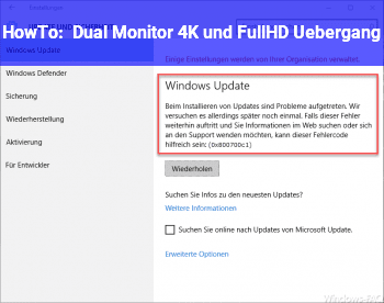 HowTo Dual Monitor 4K und FullHD Übergang