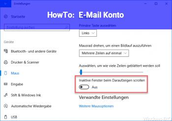 HowTo E-Mail Konto