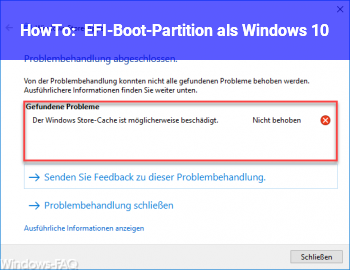 "HowTo EFI-Boot-Partition als ""Windows 10"""