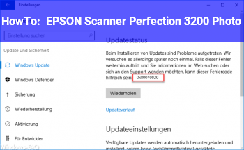 HowTo EPSON Scanner Perfection 3200 Photo