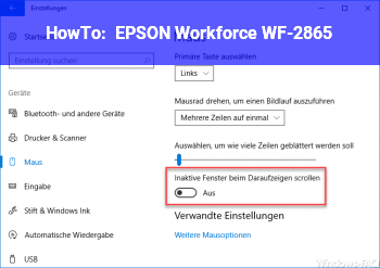 HowTo EPSON Workforce WF-2865