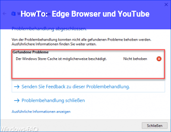 HowTo Edge Browser und YouTube
