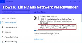 """HowTo Ein PC aus Netzwerk """"verschwunden"""""""