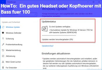 HowTo Ein gutes Headset oder Kopfhörer mit Bass für 100€?
